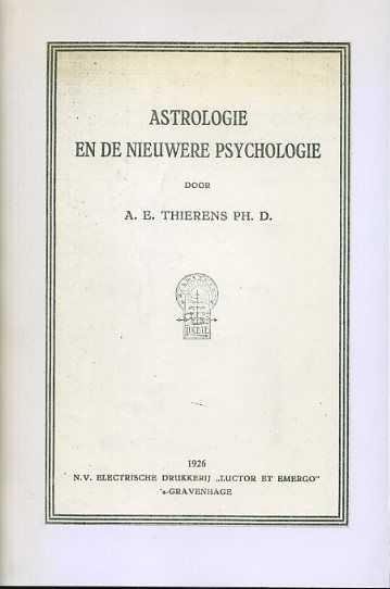 Afbeelding van tweedehands boek: Thierens, A.E.-Astrologie en de nieuwere psychologie