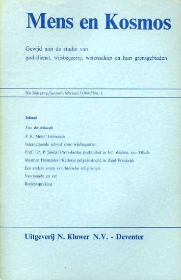 - Mens en kosmos. Gewijd aan de vergelijkende studie van godsdienst, wijsbegeerte en wetenschap met hun grensgebieden. 20e jaargang, 1964
