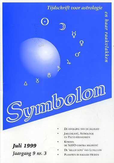 Afbeelding van tweedehands boek: -Symbolon, tijdschrift voor astrologie en haar raakvlakken. Jaargang  9(1999)nr. 3
