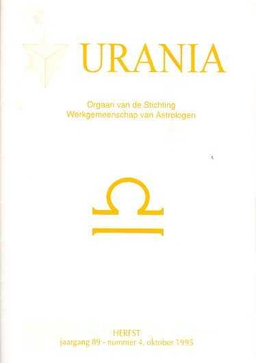 - Urania jaargang 89, nr. 4, October 1995 Herfst