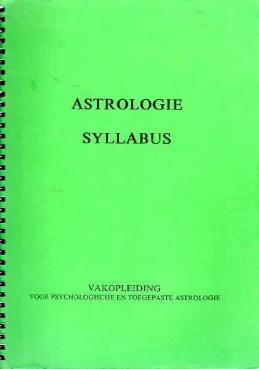 Afbeelding van tweedehands boek: Manders, L.R.-Astrologie Syllabus. Vakopleiding voor psychologische en toegepaste astrologie