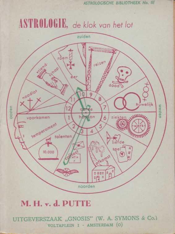 PUTTE, M.H. V.D. - Astrologie, de klok van het lot. Lesboekje voor het berekenen en duiden van de toekomst