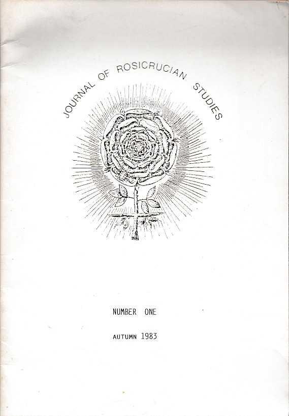 MCLEAN, ADAM [ED.] - Journal of Rosicrucian Studies. Number one. Autumn 1983